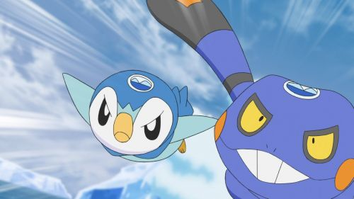 Titulky k 23x08 - Don't Give In, Piplup! An Ice Floe Race in the Sinnoh Region!!